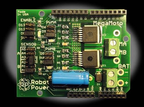 Megamoto Motor Control Shield For Arduino