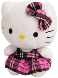 Ty Hello Kitty Beanie Baby - Pink Plaid