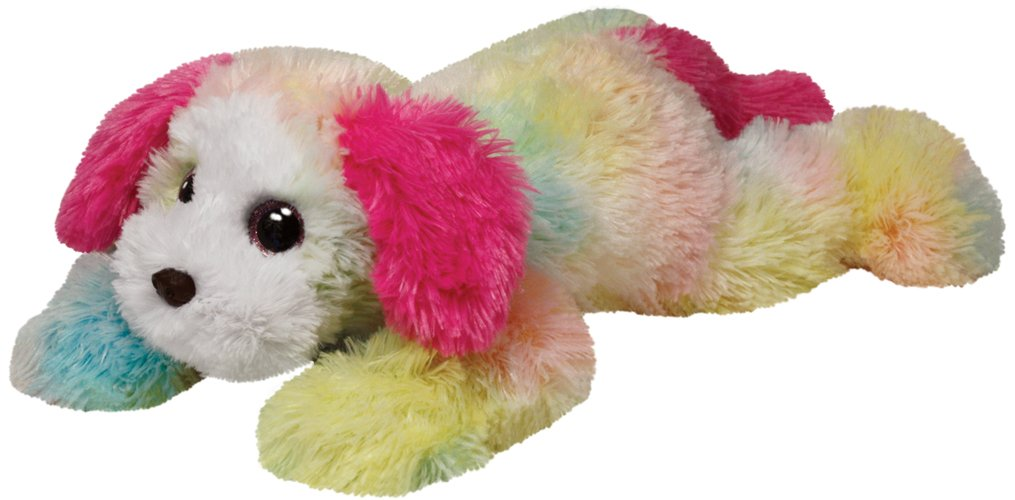 Classic TY Yodeler Rainbow Dog Medium
