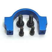 Microheli Alum CNC Horizontal Fin Holder, Blue: B400/3D