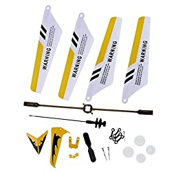 S107 YELLOW SET (MAIN BLADES, TAIL DECOR, BALANCE BAR AND 2 TAIL BLADES)