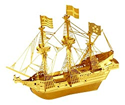METAL EARTH GOLDEN HIND GOLD