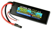 Lectron Pro 11.1v 7600mah 75C Hard Case Lipo Battery With Traxxas Connector