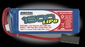 DuraTrax 1600mAh 7.4V 2S Double Cell 20C LiPo Pack - Traxxas Connector