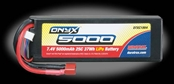 DuraTrax Onyx 5000mAh 2S 7.4V 25C Hard Case LiPoly Pack - Deans Connector