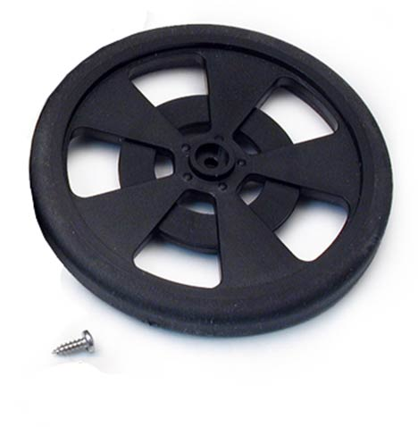 GMPW-B 2-5/8 in. Plastic Servo Tire and Wheel - Black