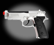 Win Gun Power M9 CO2 Powered Airsoft Gas Pistol - Silver