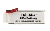 Heli-Max 1200mAh Single Cell 1S 3.7V 30C LiPo Battery - 230Si