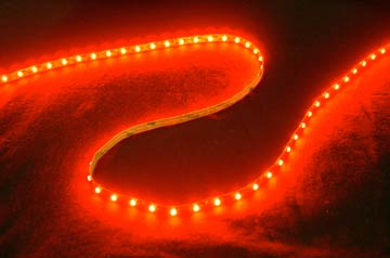 Self-Adhesive 2 Inch 3 Lights LED Light Strip - Red - LED-5METER-RED