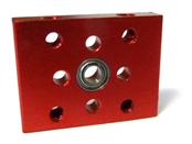 Bearing Block, 1 x .75 inch, 3mm, with Ball Bearing