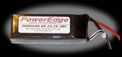 PowerEdge 2600mAh 22.2V 6S Six Cell 38C LiPoly Pack