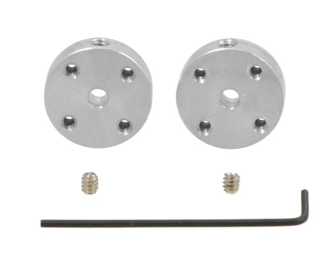 4mm Aluminum Mounting Hub - Set of Two
