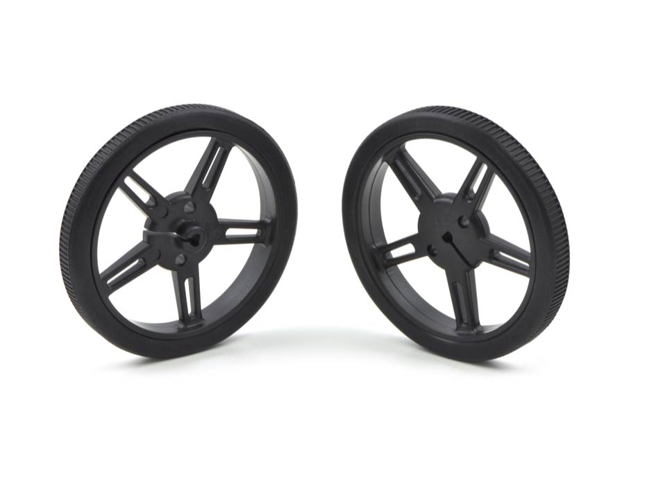 Pololu Wheel 60 x 8mm Pair - Black