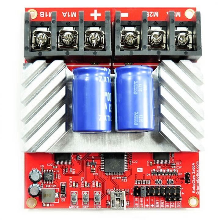 RoboClaw 2x60A Dual Motor Controller with USB - R0414