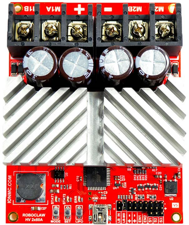 RoboClaw HV 2x60A Dual Motor Controller - R0415