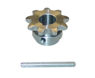 1/2 inch bore #35 pitch Sprocket and Key for AmpFlow A28, F30, and E30 motors