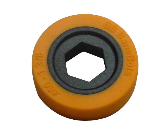 BaneBots Wheel, 1-3/8 x 0.4in., 1/2in. Hex Mount, 40A, Orange