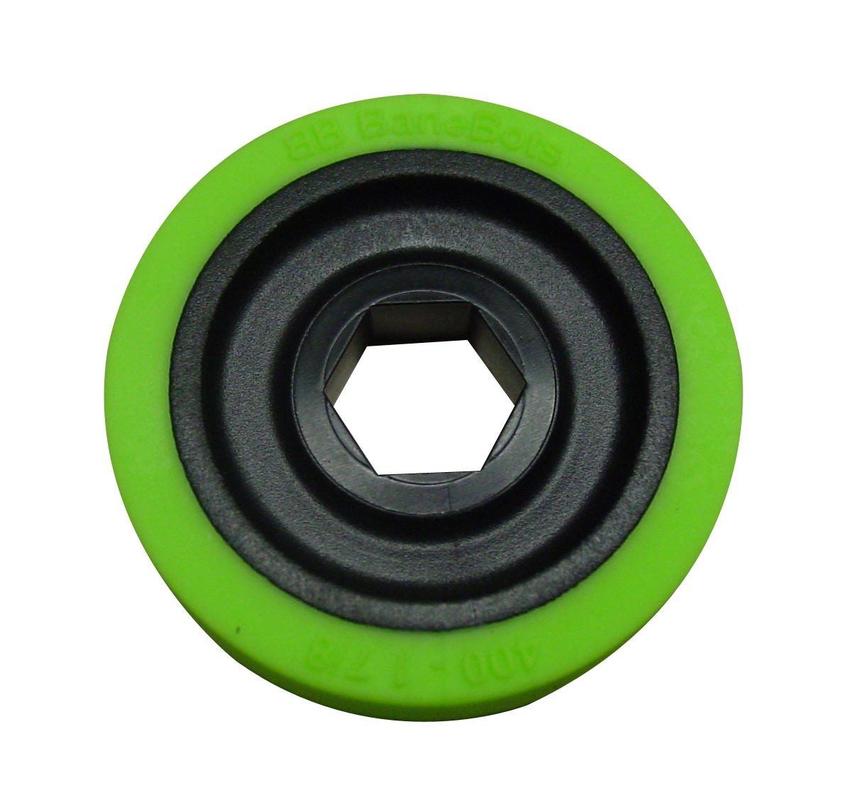 BaneBots Wheel, 1-7/8 x 0.4in., 1/2in. Hex Mount, 30A Green