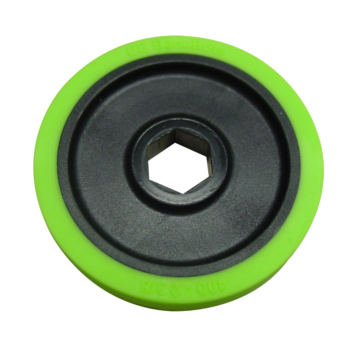 BaneBots Wheel, 2-3/8 x 0.4in., 1/2in. Hex Mount, 30A Green