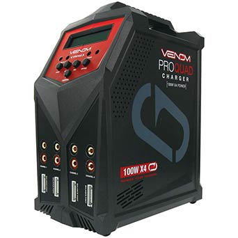 Venom Pro Quad Charger,100W 7Amp Multi Chemistry Charger