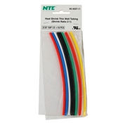 Heat Shrink 2:1 Assorted Colors 3/32 inch (10 pcs)