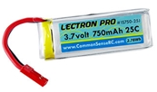Lectron Pro 3.7V 750mAh 25C Lipo Battery with JST Connector for Dromida Ominus