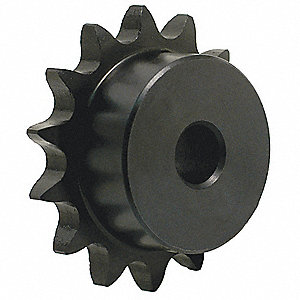 1/4 pitch Type B Sprocket - 21 teeth, 1/2 inch bore