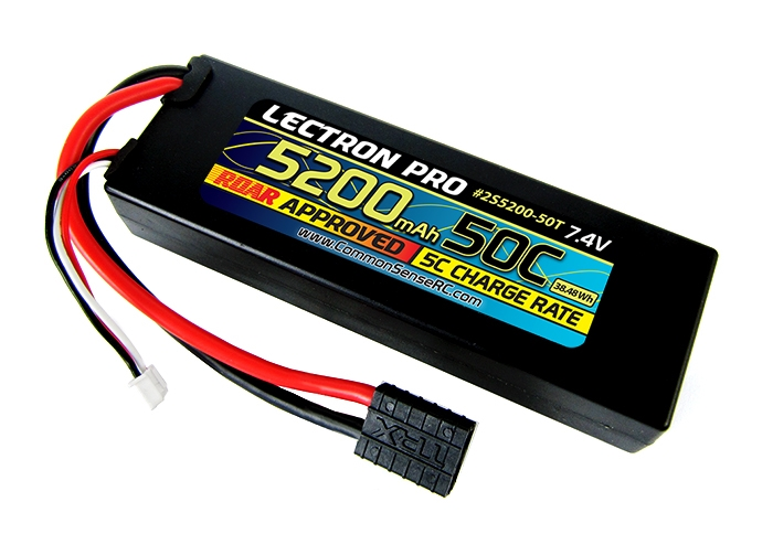 Lectron Pro 5200mAh 2S 7.4V 50C LiPoly Pack - Traxxas Connector