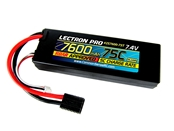 Lectron Pro 7.4V 7600mAh 75C Lipo Battery - Traxxas Connector