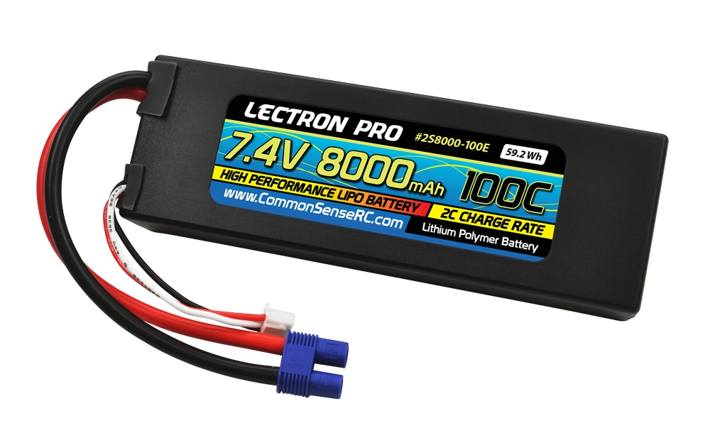 Lectron Pro™ 7.4V 8000mAh 100C Lipo Battery with EC3 Connector