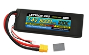 Lectron Pro™ 7.4V 8000mAh 100C Lipo Battery with XT60 & Traxxas Connector