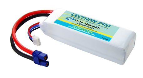 Lectron Pro 11.1V 2200mAh 50C with EC3 Connector