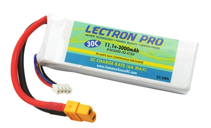 Lectron Pro 11.1V 3000mAh 30C Lipo Battery with XT60 Connector for DJI Phantom
