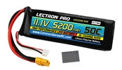 Lectron Pro 11.1V 5200mAh 50C Lipo Battery with XT60 Connector + CSRC adapter for XT60 batteries to Traxxas vehicles