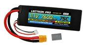 Lectron Pro™ 11.1V 7600mAh 75C Lipo Battery with XT60 & Traxxas Connector
