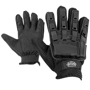 Gloves - V-TAC Full Finger Plastic Back NEW-Black-S