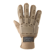 Gloves - V-TAC Full Finger Plastic Back NEW-Tan-L