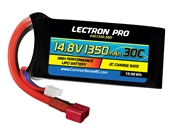 Lectron Pro 14.8v 1350mAh 30C Lipo Battery With Deans Connector