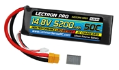 Lectron Pro™ 14.8V 5200mAh 50C Lipo Battery with XT60 & Traxxas Connector
