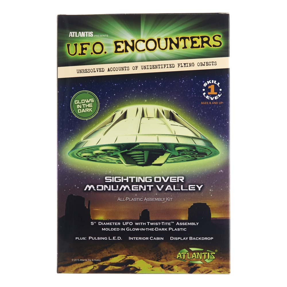 AMC-1007G Monument Valley UFO 5 Lighted Glow/Dark