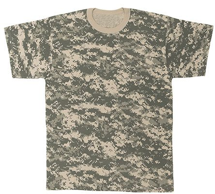 Mens ACU Digital Poly Cotton Camoulflage T-Shirt - Size : XXL