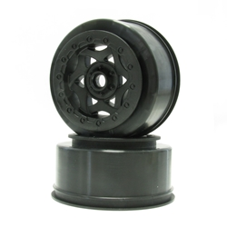 Front Cyclone Short Course Wheel, Black: SC10