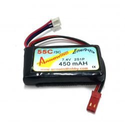 Arrowwind 450mAh 11.1V 3S 55C LiPo Battery - JST Connector
