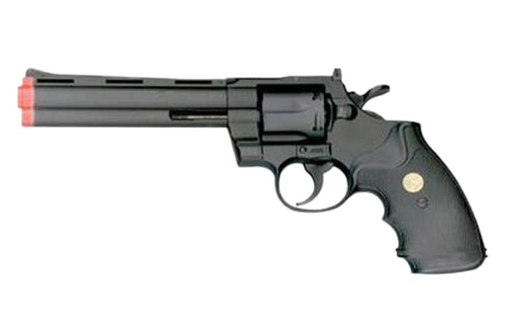 UHC UA938 6in Revolver Airsoft Pistol - Black