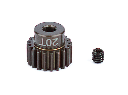 Factory Team Aluminum Pinion Gear, 20T 48P, 1/8 shaft