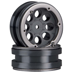 Axial 8-Hole 1.9 Beadlock Wheel Black (2)