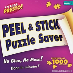 Peel & Stick Puzzle Saver No Glue, No Mess!Done In Minutes!Preserves one 1000 Piece Puzzle, 6 Adhesive Sheets