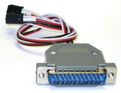 RoboteQ 25-pin to RC Radio Cable for HDC/HBL-model Controllers