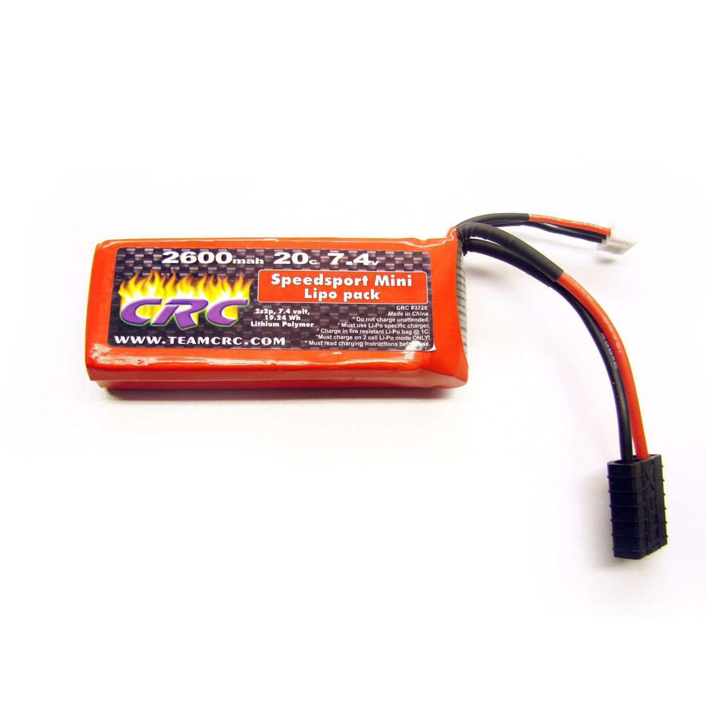 7.4V 2600MAH 2S 20C Mini Lipo:TRA Connector