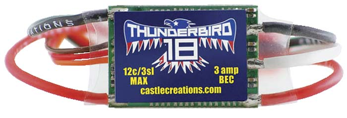 Thunderbird 18 Brushless Speed Controller
